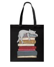 Cat And Book Tote Bag thumbnail