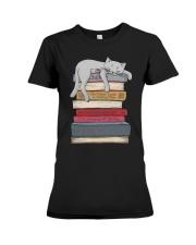 Cat And Book Premium Fit Ladies Tee thumbnail