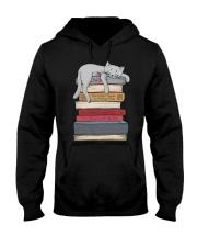 Cat And Book Hooded Sweatshirt thumbnail