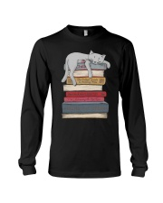Cat And Book Long Sleeve Tee thumbnail
