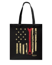 Patriotic American Mechanic Wrench Flag Tote Bag tile