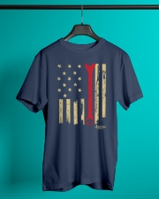 Patriotic American Mechanic Wrench Flag Classic T-Shirt lifestyle-mens-crewneck-front-3