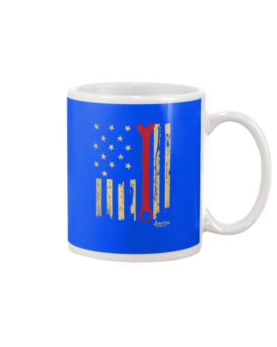 Patriotic American Mechanic Wrench Flag