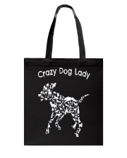 Crazy Dog Lady T-Shirt UK Tote Bag thumbnail