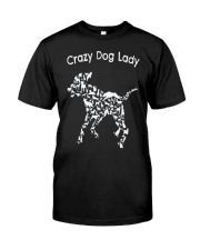Crazy Dog Lady T-Shirt UK Classic T-Shirt thumbnail