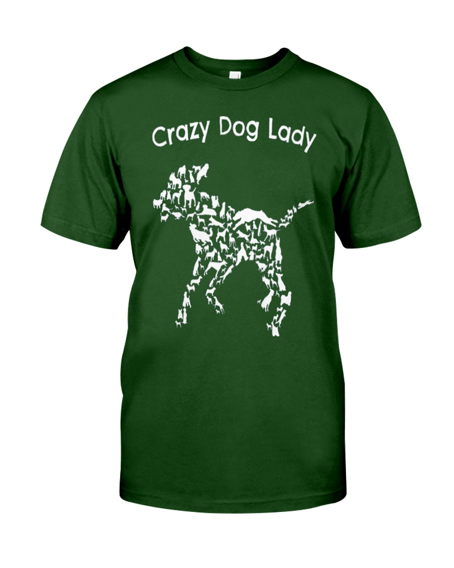 Crazy Dog Lady T-Shirt UK Classic T-Shirt