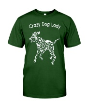 Crazy Dog Lady T-Shirt UK Classic T-Shirt front