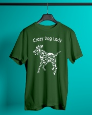 Crazy Dog Lady T-Shirt UK Classic T-Shirt lifestyle-mens-crewneck-front-3