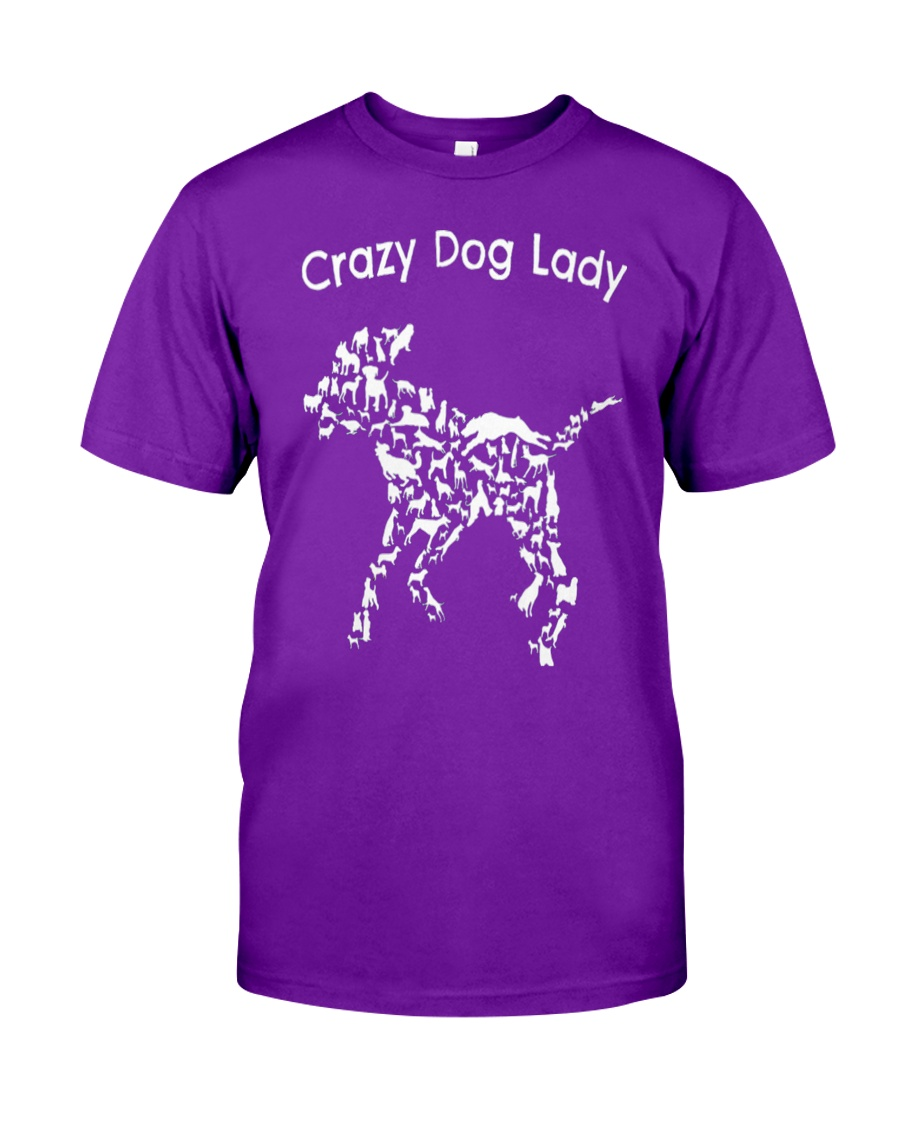 Crazy Dog Lady T-Shirt UK Classic T-Shirt