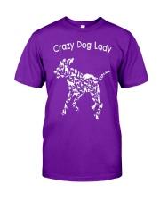 Crazy Dog Lady T-Shirt UK Classic T-Shirt front