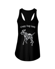 Crazy Dog Lady T-Shirt UK Ladies Flowy Tank thumbnail