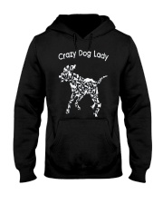 Crazy Dog Lady T-Shirt UK Hooded Sweatshirt thumbnail