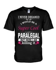 SUPER COOL PARALEGAL V-Neck T-Shirt thumbnail