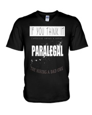 TRY HIRING PARALEGAL V-Neck T-Shirt thumbnail