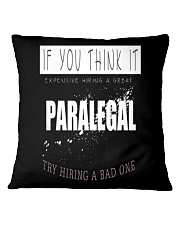 TRY HIRING PARALEGAL Square Pillowcase tile