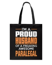 PROUD HUSBAND - PARALEGAL Tote Bag thumbnail