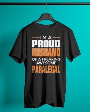 PROUD HUSBAND - PARALEGAL Classic T-Shirt lifestyle-mens-crewneck-front-3