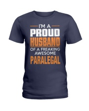 PROUD HUSBAND - PARALEGAL Ladies T-Shirt thumbnail