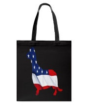 Patriotic Dachshund Tote Bag tile