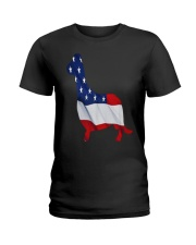 Patriotic Dachshund Ladies T-Shirt thumbnail