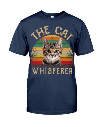Cat Shirt The Cat Whisperer Vintage Style