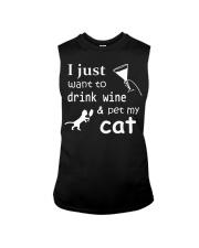 I just want to drink Wine Sleeveless Tee thumbnail