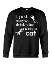 I just want to drink Wine Crewneck Sweatshirt thumbnail