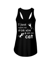 I just want to drink Wine Ladies Flowy Tank thumbnail