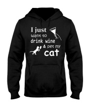 I just want to drink Wine Hooded Sweatshirt thumbnail