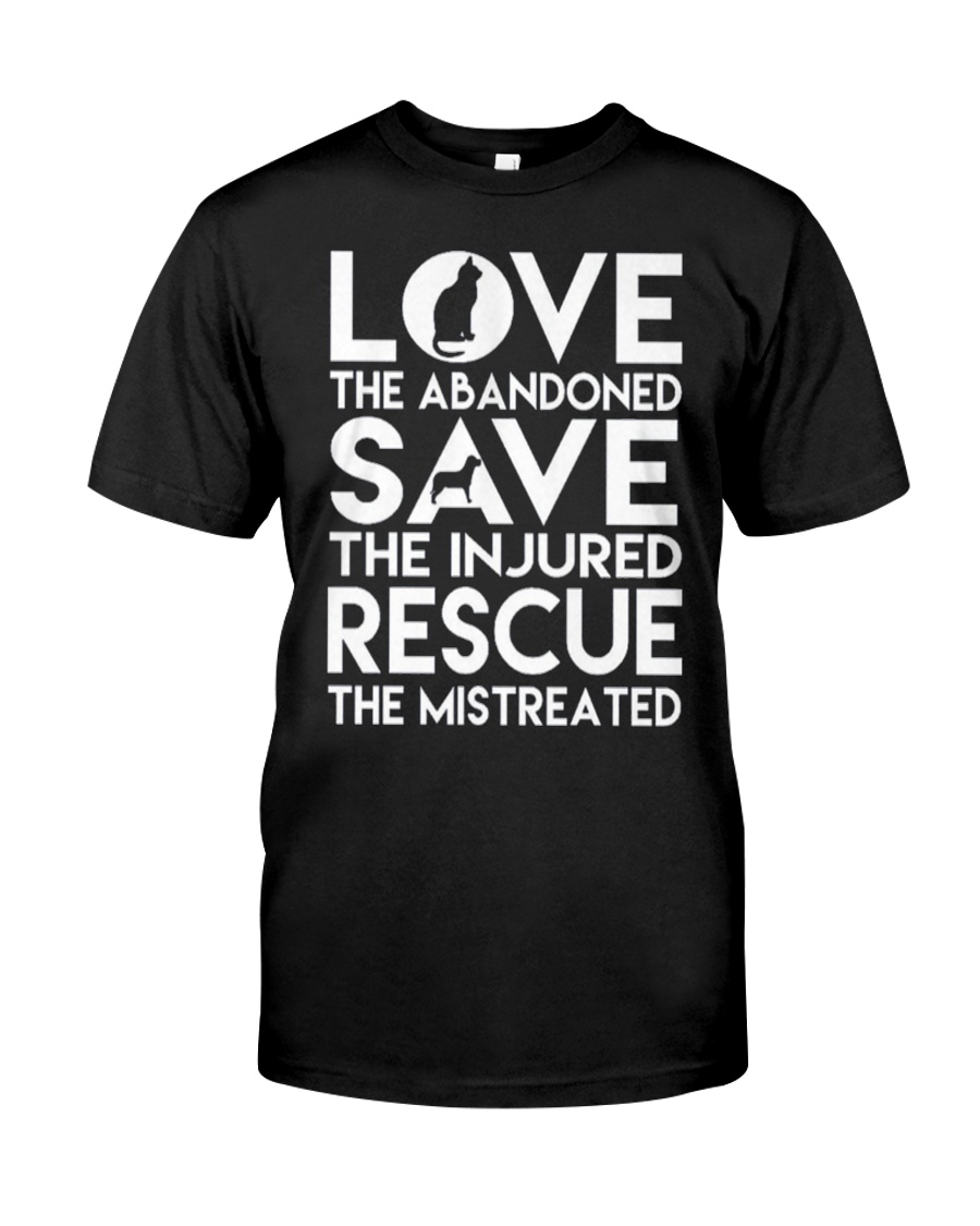 DOG-RESCUE-TEE-ANIMAL-CAT-RESCUE-SHIRT-L Classic T-Shirt