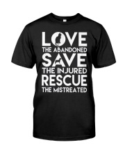 DOG-RESCUE-TEE-ANIMAL-CAT-RESCUE-SHIRT-L Classic T-Shirt front