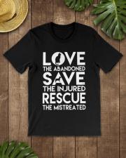 DOG-RESCUE-TEE-ANIMAL-CAT-RESCUE-SHIRT-L Classic T-Shirt lifestyle-mens-crewneck-front-18