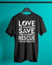 DOG-RESCUE-TEE-ANIMAL-CAT-RESCUE-SHIRT-L Classic T-Shirt lifestyle-mens-crewneck-front-3