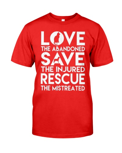 DOG-RESCUE-TEE-ANIMAL-CAT-RESCUE-SHIRT-L