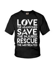DOG-RESCUE-TEE-ANIMAL-CAT-RESCUE-SHIRT-L Youth T-Shirt thumbnail