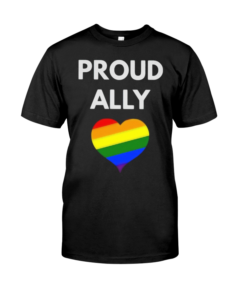 Proud Ally t-shirt - LGBT Pride Classic T-Shirt showcase