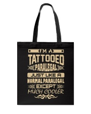 TATTOOED PARALEGAL T SHIRTS Tote Bag tile