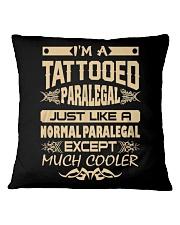 TATTOOED PARALEGAL T SHIRTS Square Pillowcase thumbnail