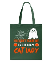 Halloween Cat You Can't Scare Me  Tote Bag thumbnail