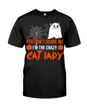 Halloween Cat You Can't Scare Me  Classic T-Shirt front