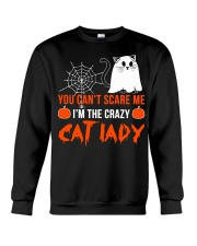 Halloween Cat You Can't Scare Me  Crewneck Sweatshirt thumbnail