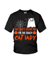 Halloween Cat You Can't Scare Me  Youth T-Shirt thumbnail