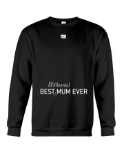 Best Millennial Mum Ever Mothers Day Crewneck Sweatshirt thumbnail