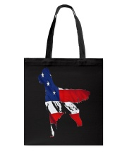 Patriotic Golden Retriever Tote Bag thumbnail