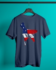 Patriotic Golden Retriever Classic T-Shirt lifestyle-mens-crewneck-front-3