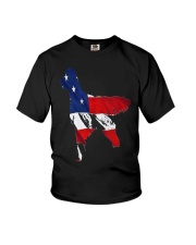 Patriotic Golden Retriever Youth T-Shirt thumbnail