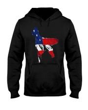 Patriotic Golden Retriever Hooded Sweatshirt thumbnail
