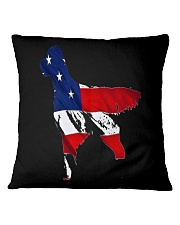 Patriotic Golden Retriever Square Pillowcase thumbnail