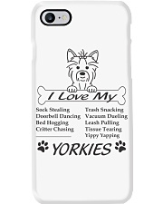 Yorkies - Sock Stealing Doorbell Dancing Bed Hog Phone Case thumbnail
