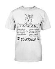 Yorkies - Sock Stealing Doorbell Dancing Bed Hog Classic T-Shirt thumbnail